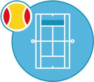 tennisschool terrein blauw