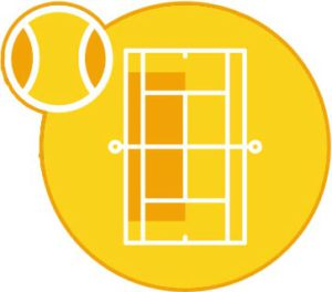 tennisschool terrein oranje