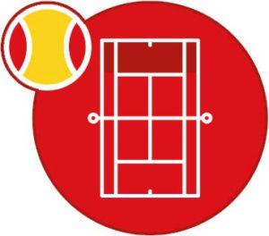 tennisschool terrein rood