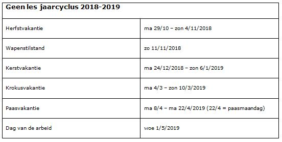 Tennisschool kalender 2018 2019(2)