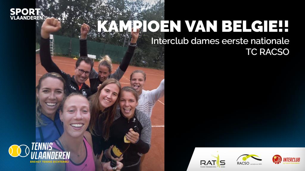 TC Racso kampioen van België